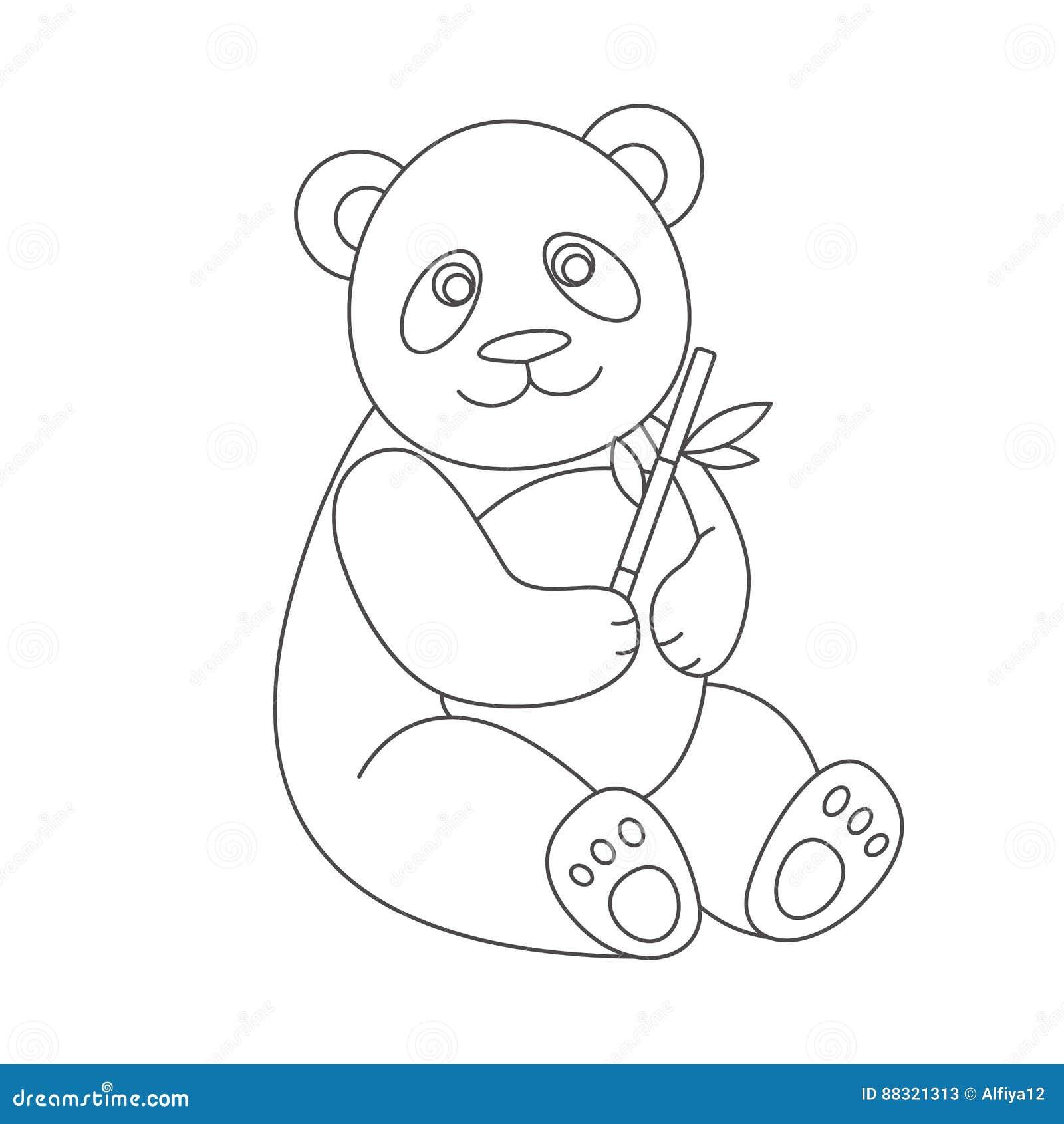 Panda Per Il Libro Da Colorare Illustrazione Vettoriale Illustrazione Di Libro Pagina 88321313