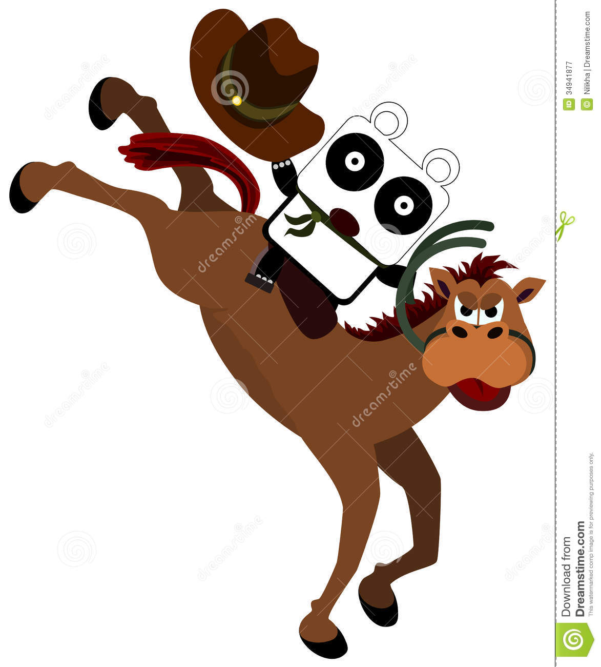 clipart panda cowboy - photo #3