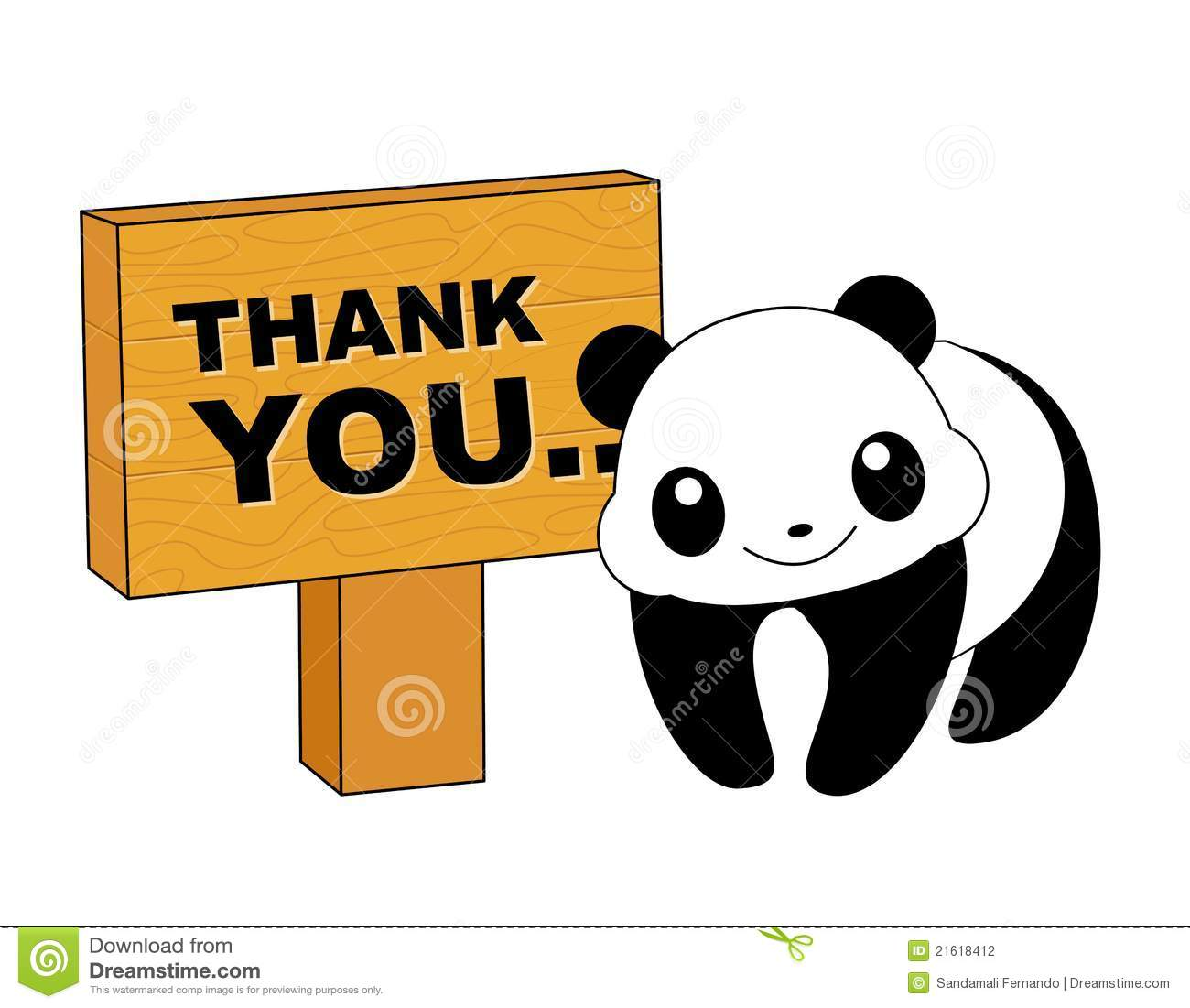 Panda Thank You Card Stock Photography Image