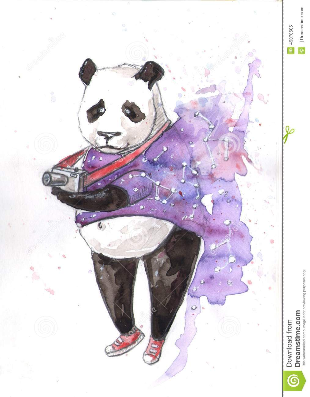 Panda stock illustration illustration of black panda
