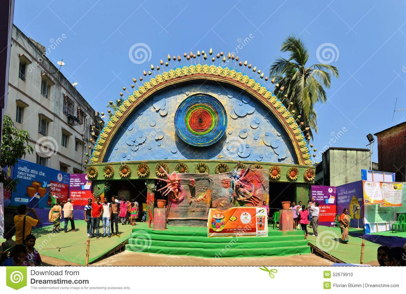 Pandal temporary temple dedicated to hindu godess editorial image pandal temporary temple dedicated to hindu godess editorial image image of bengal india 52679910 thecheapjerseys Images