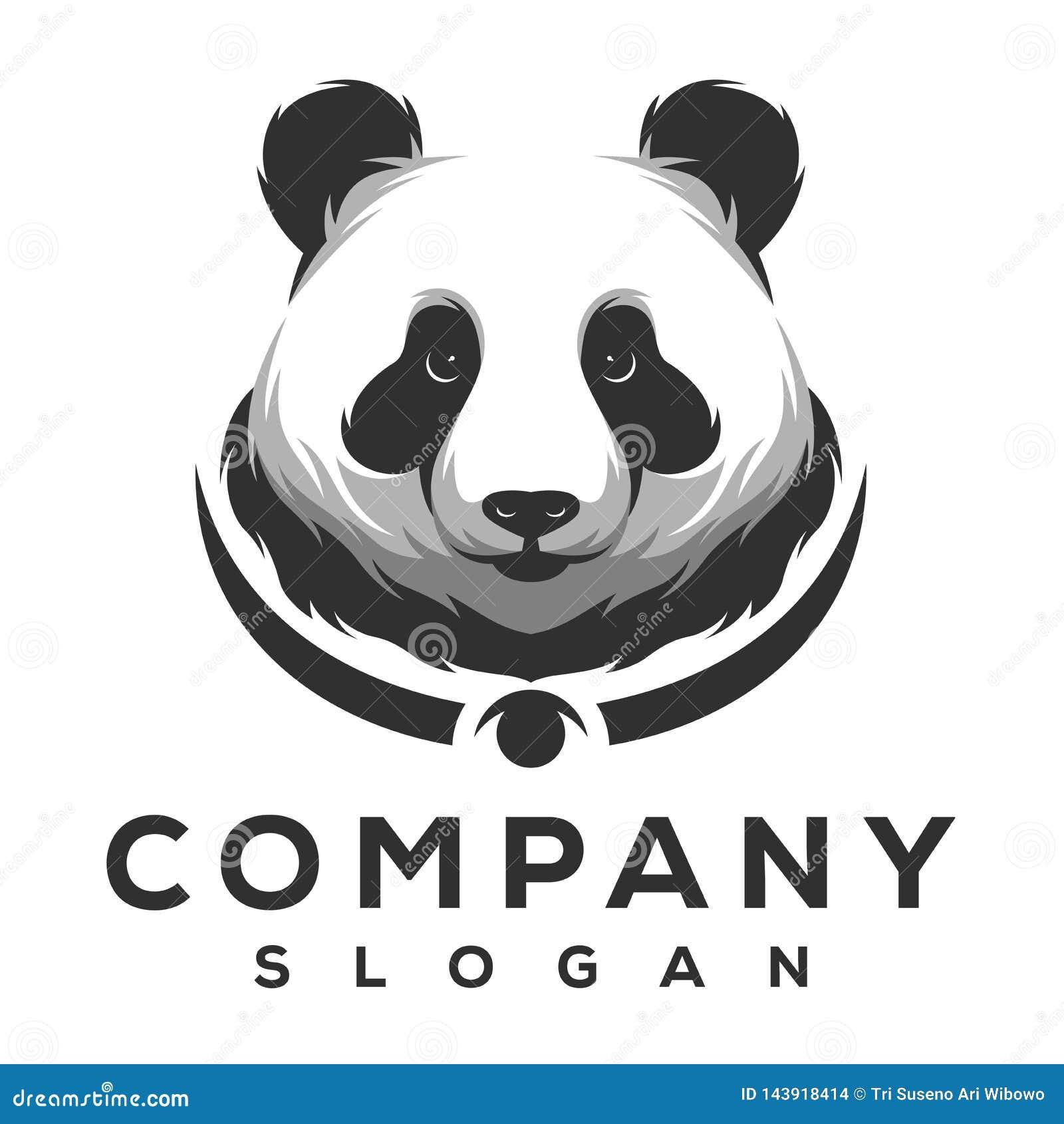 Pandalogoentwurf gebrauchsfertig