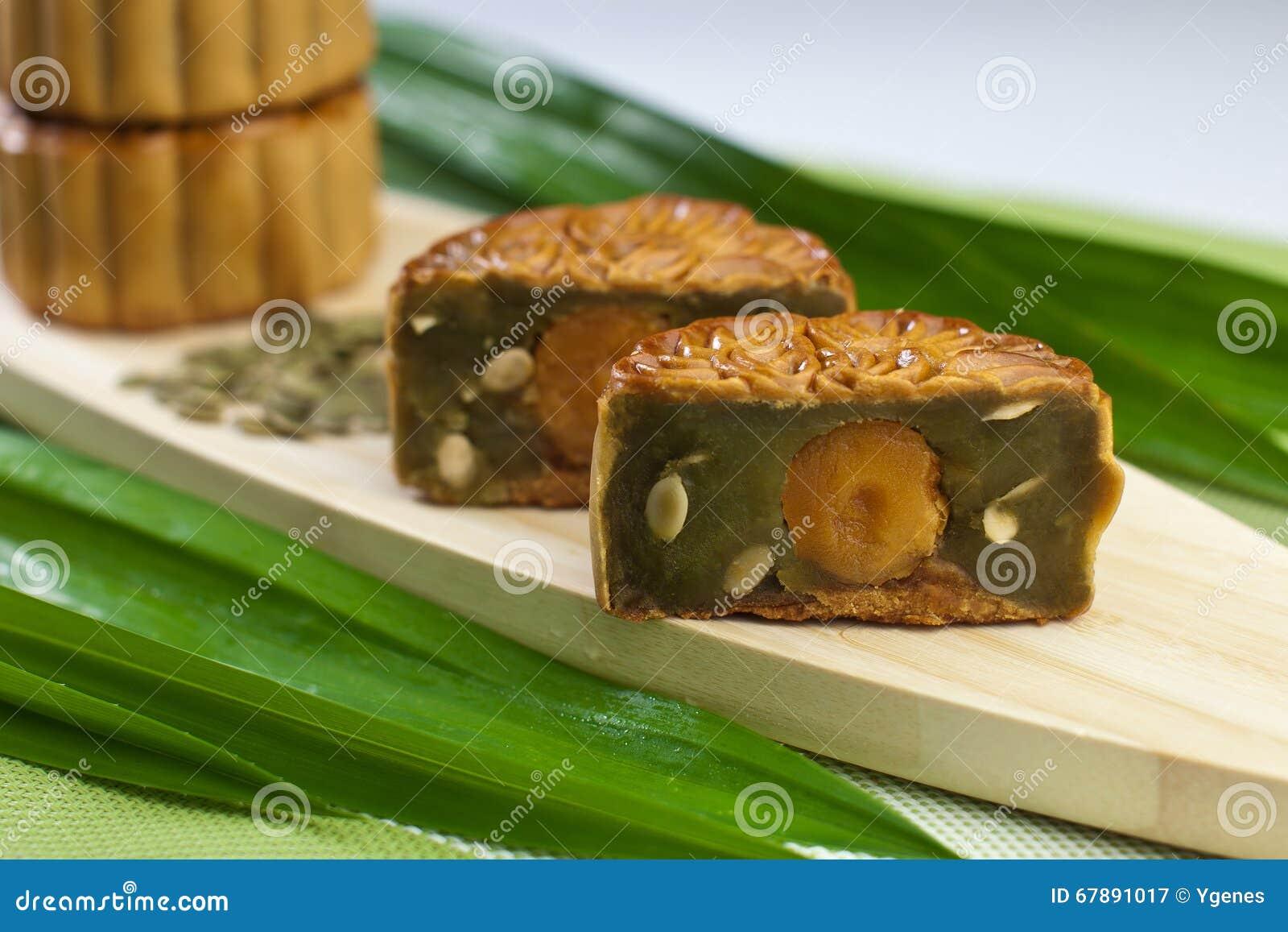 Pandan与南瓜种子的味道月饼