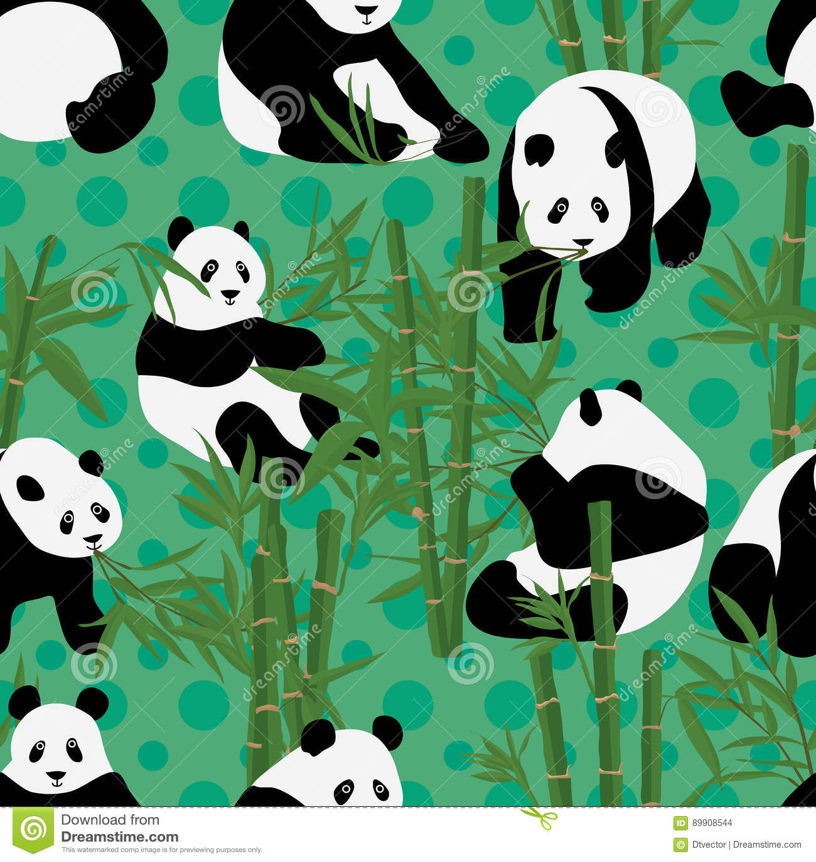 Pandan äter den sömlösa modellen för bambu