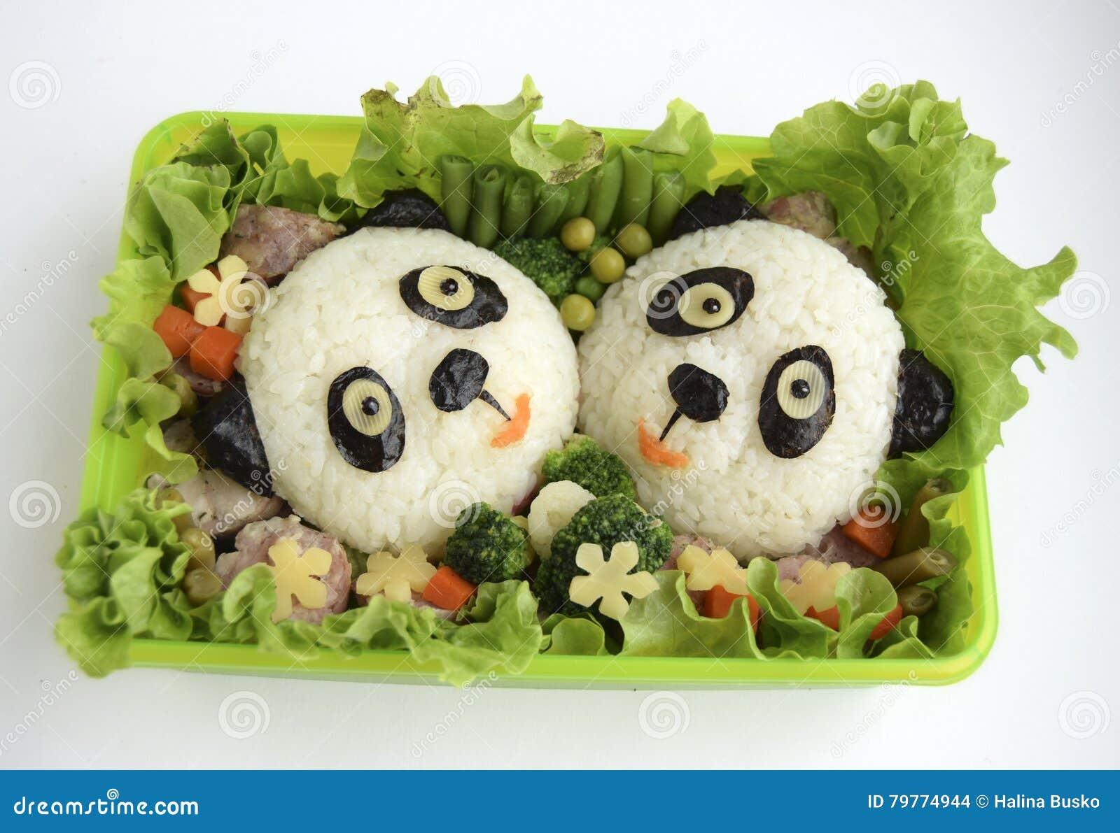 Pandas wird es vom Reis gemacht