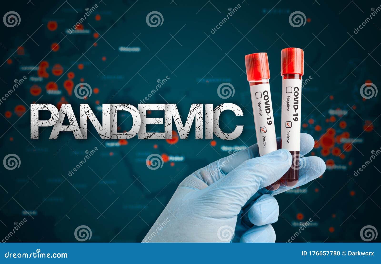 Coronavirus Concept With Pandemic Message Stock Photo ...
