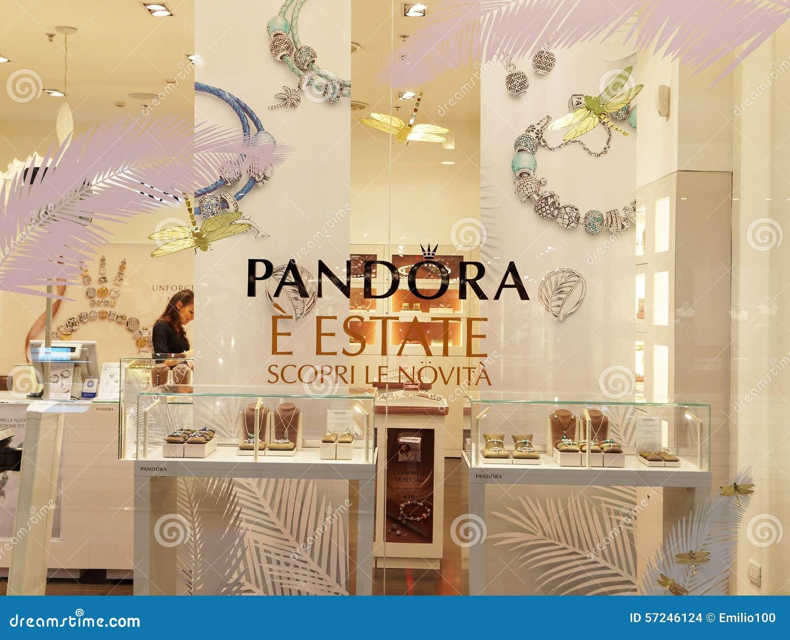 Pandora Jewelry Store In Rome, Italy. Editorial Stock Image ...