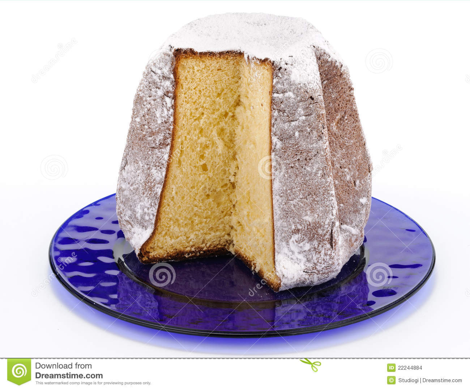 Pandoro , typical italian Christmas cake from Verona made from flour ...