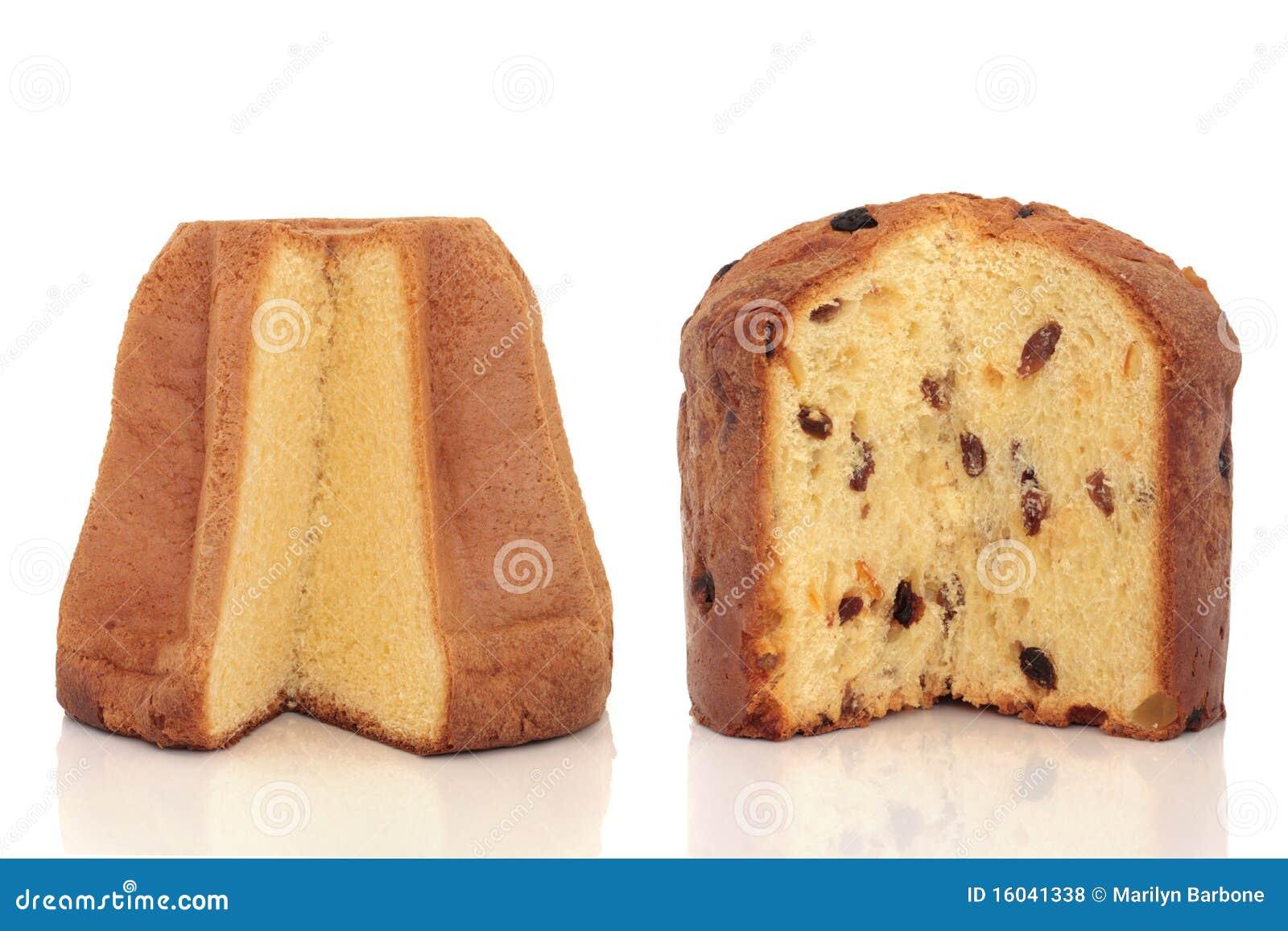 Pandoro Und Panettone Kuchen Stockfoto Bild Von Gebacken Frisch
