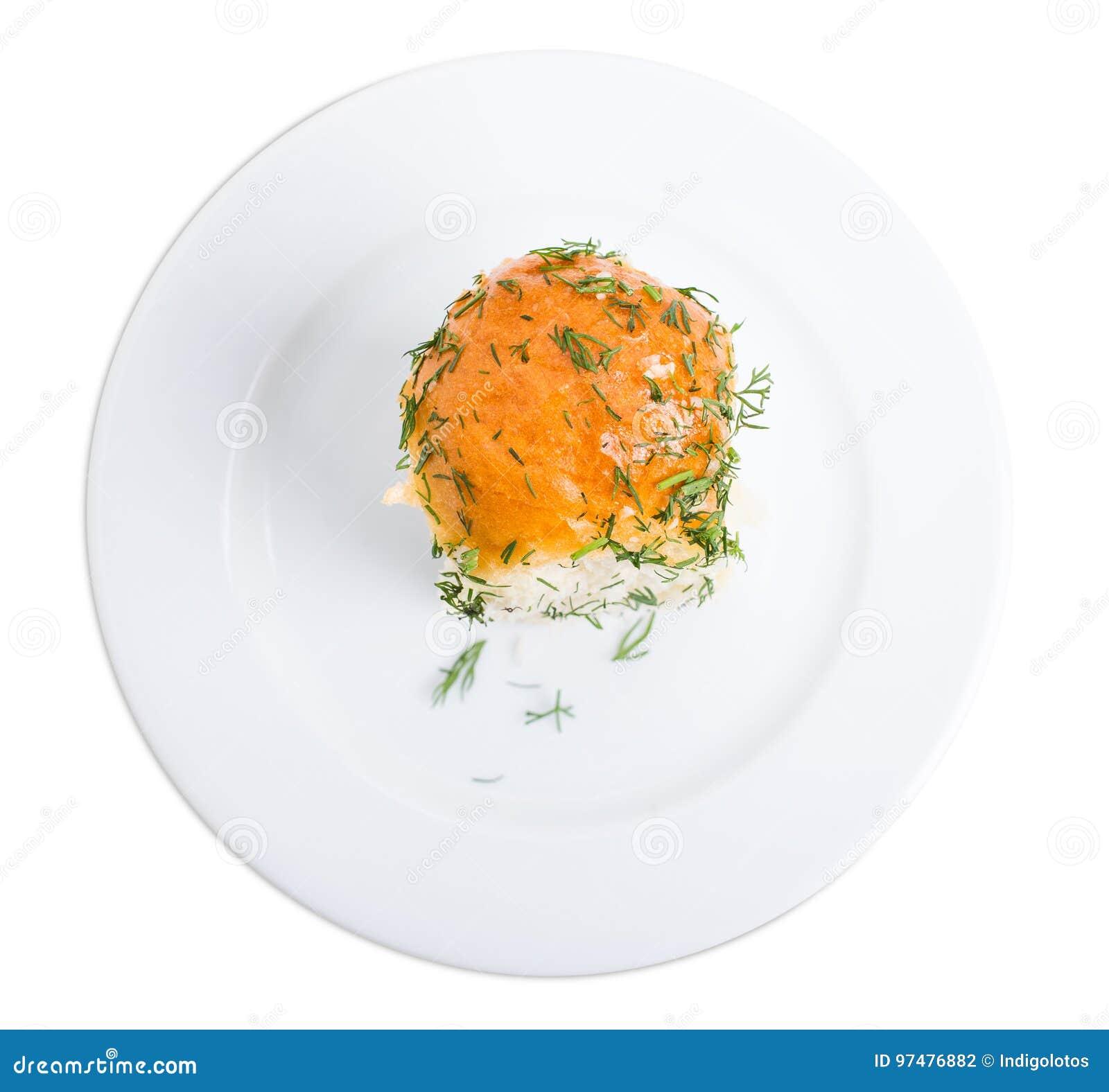 Pane all aglio ucraino con aneto fresco