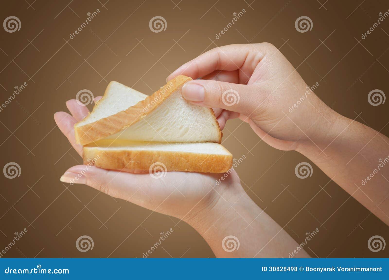 Pane della tenuta della mano