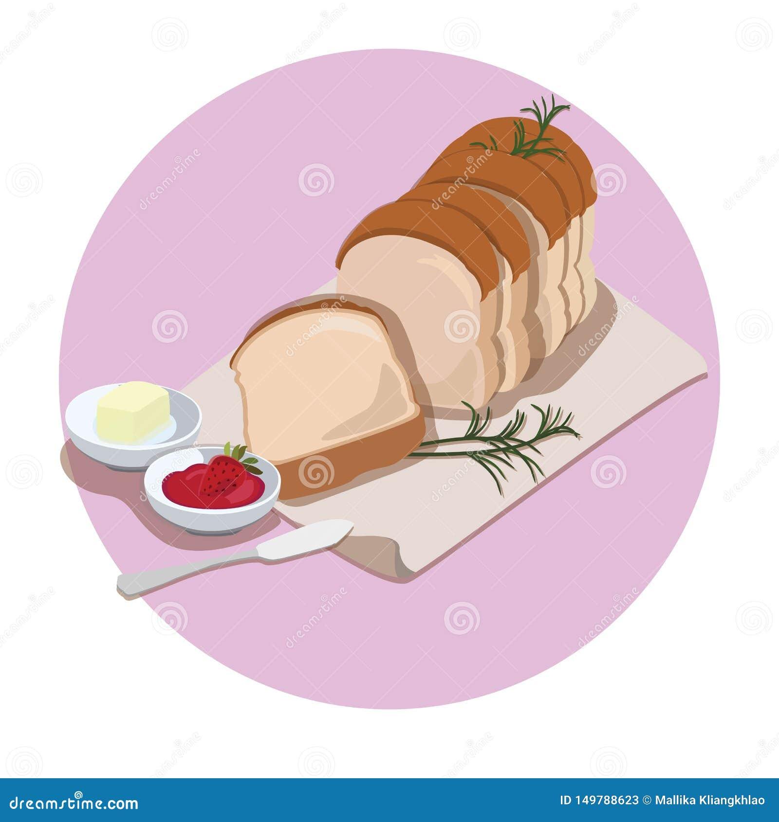 Pane e burro classici, inceppamento di fragola
