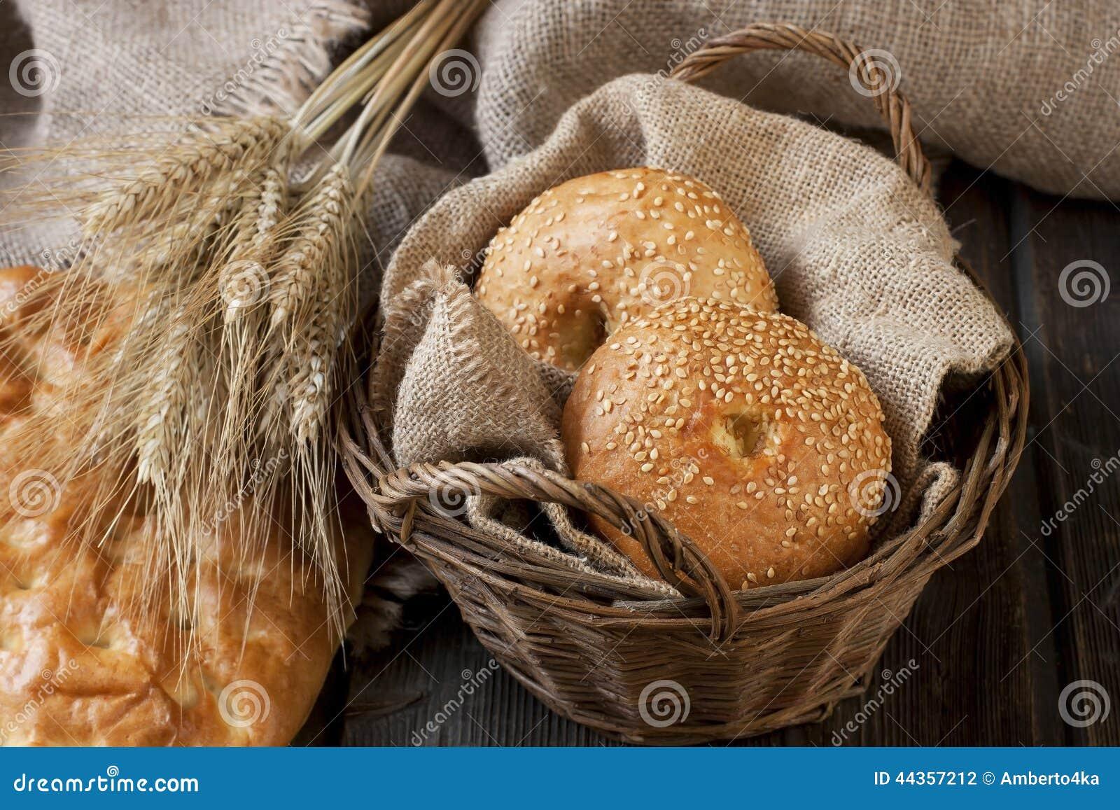Pane fresco sui precedenti di legno