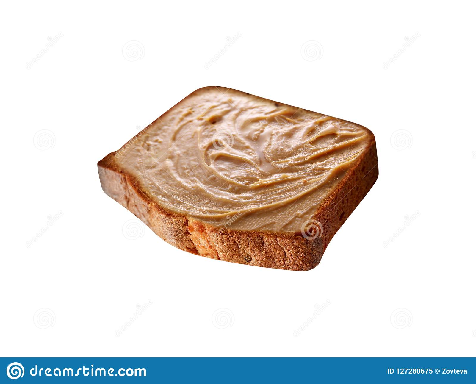 Pane tostato con il burro di arachide