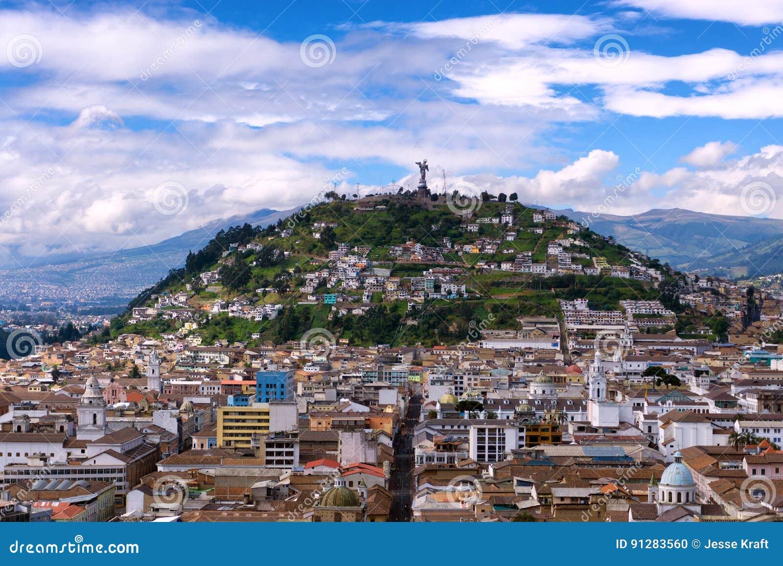 Panecillo kulle i Quito, Ecuador