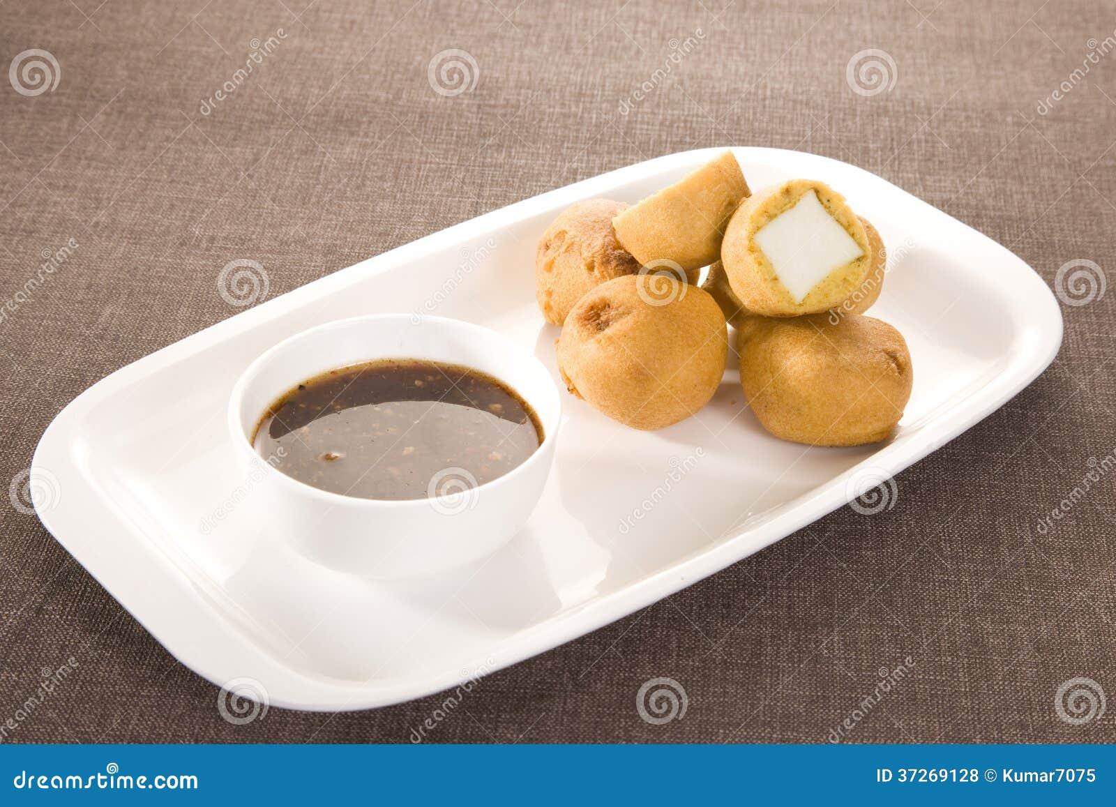 Paneer Pakora med chutney