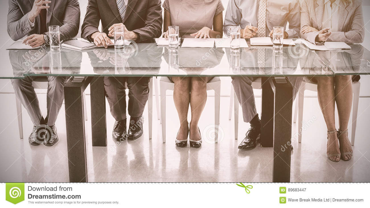 Panel of corporate personnel officers in office