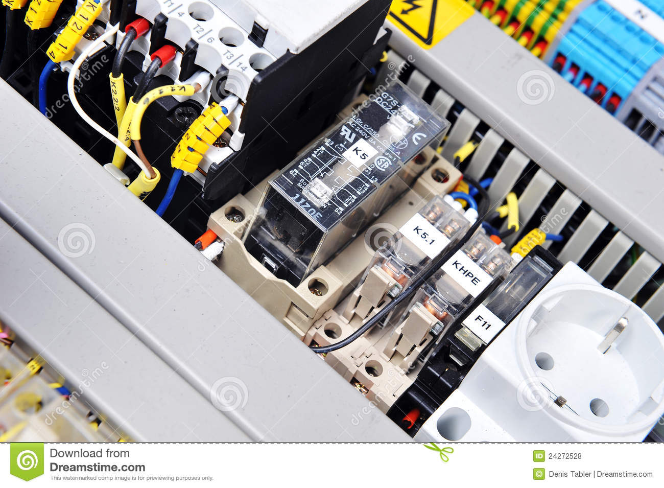 Tractor Technology Panel : Panel with electrical equipment royalty free stock photos