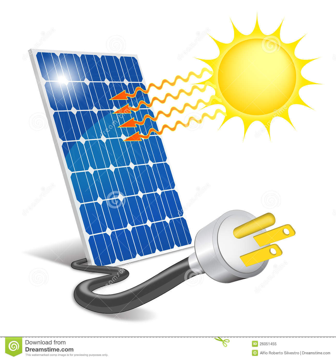 Panel Photovoltaic Stock Vector Illustration Of Gain