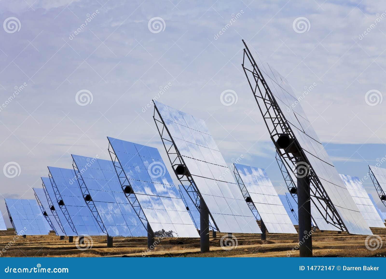 Panels den gröna spegeln för energi förnybart sol-