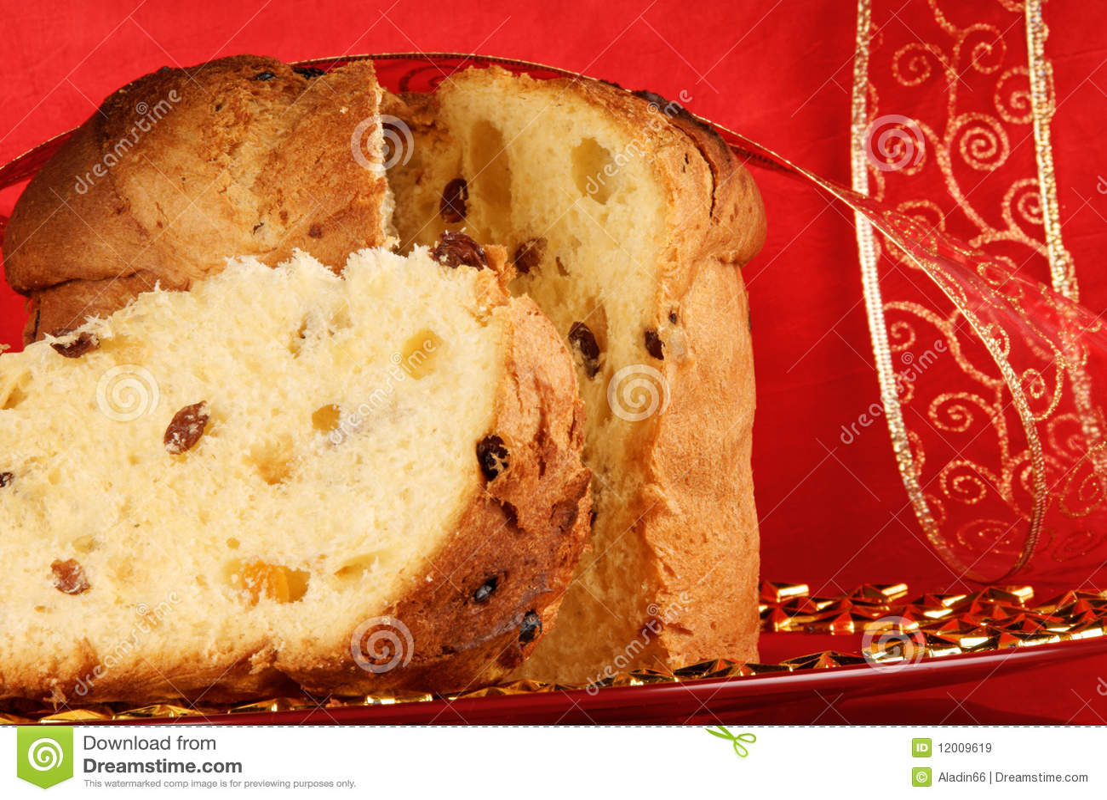 Italian Fruit Cake Recipes: Panettone The Italian Christmas Cake Royalty Free Stock