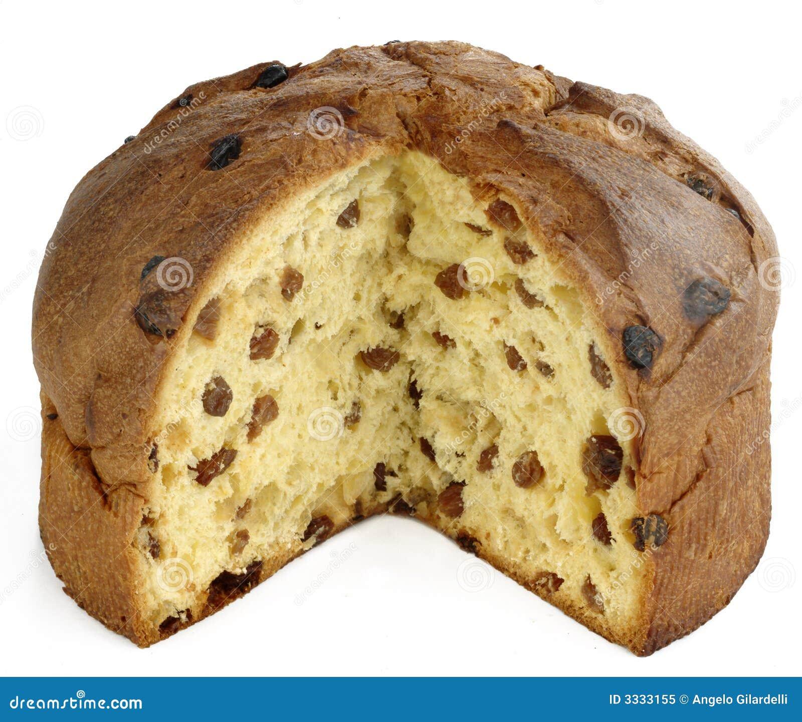 Italienischer Panettone Kuchen Vollstandig Und Geschnitten