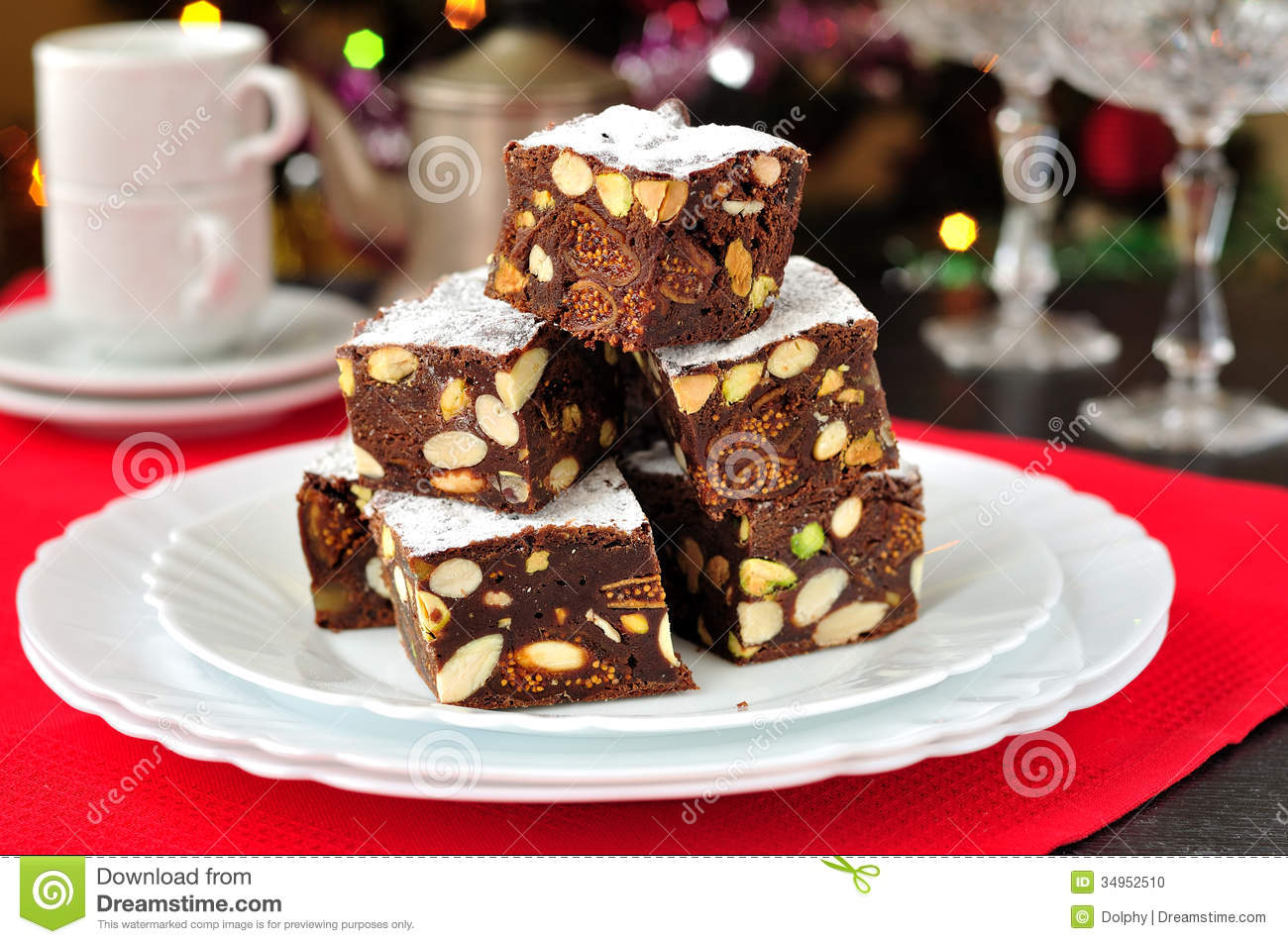 Panforte Di Siena Italian Christmas Treat Stock Photo