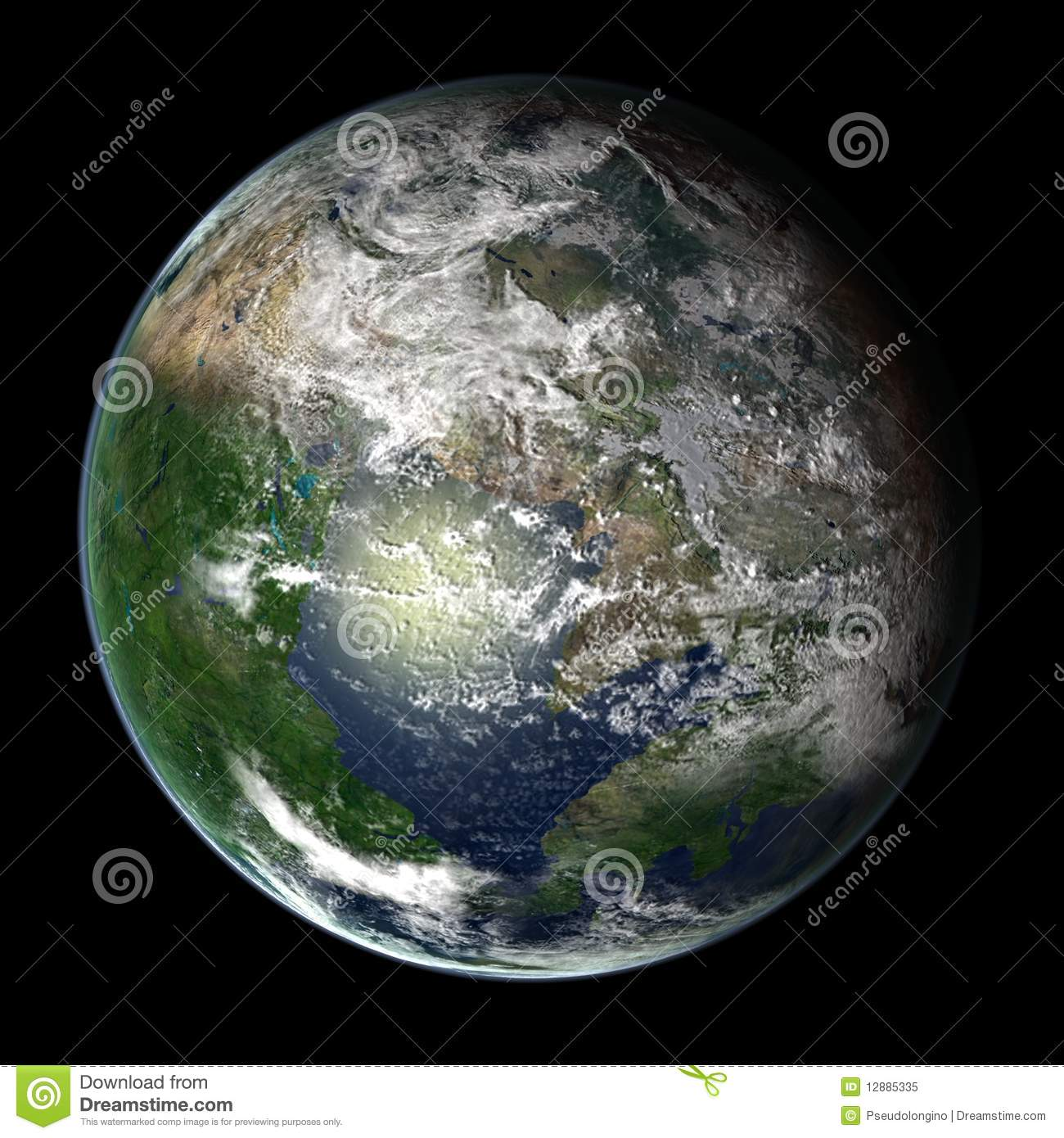 Pangea Ultima Royalty Free Stock Photo - Image: 12885335