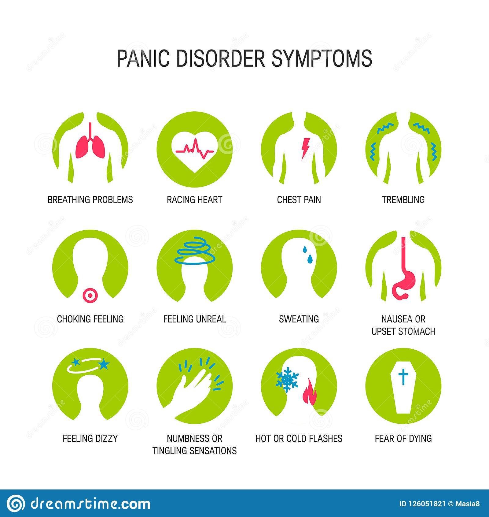 Panic Attack Symptoms Vector Stock Illustration ...