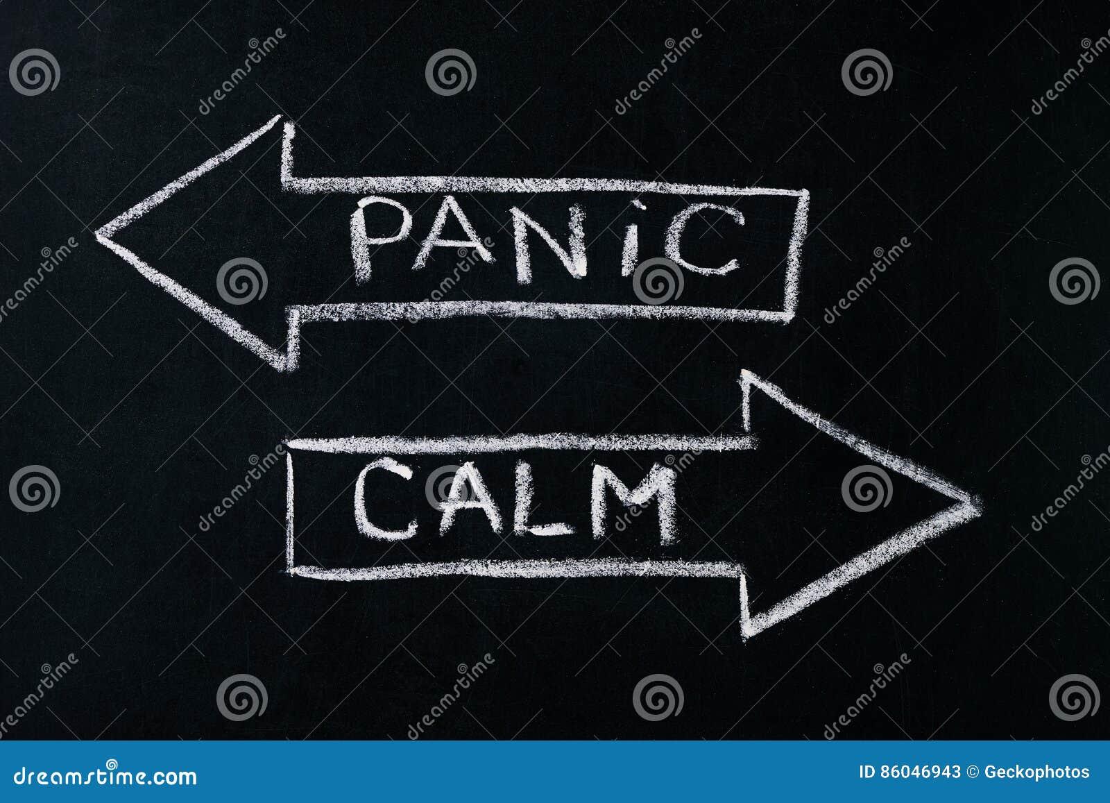 Panic or calm