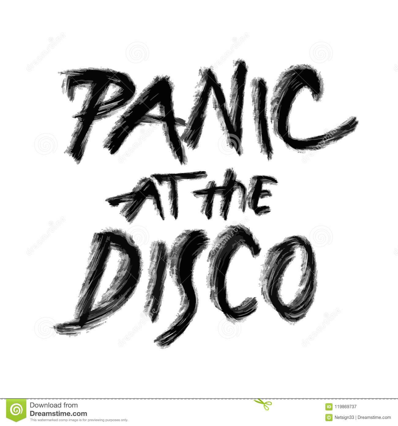 panic at the disco hand drawn lettering