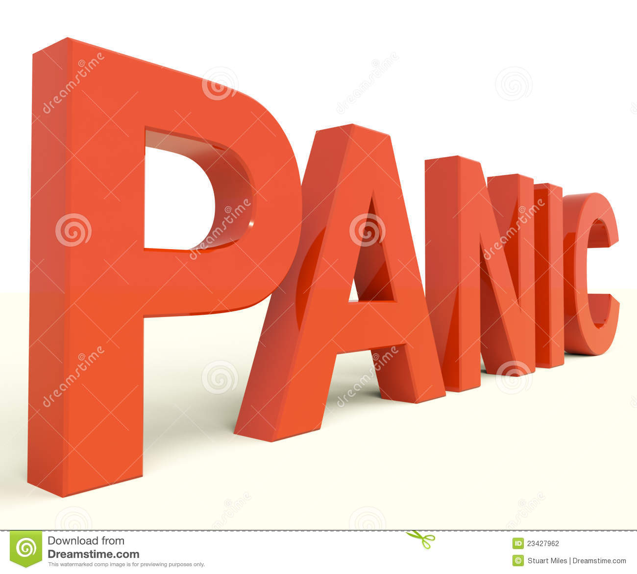 Panic Word As Symbol For Emergency And Stress Stock Illustration