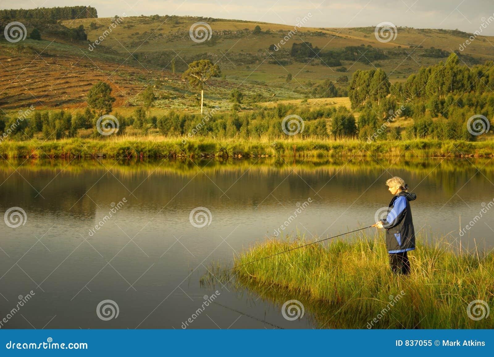 Panie połowów jezioro