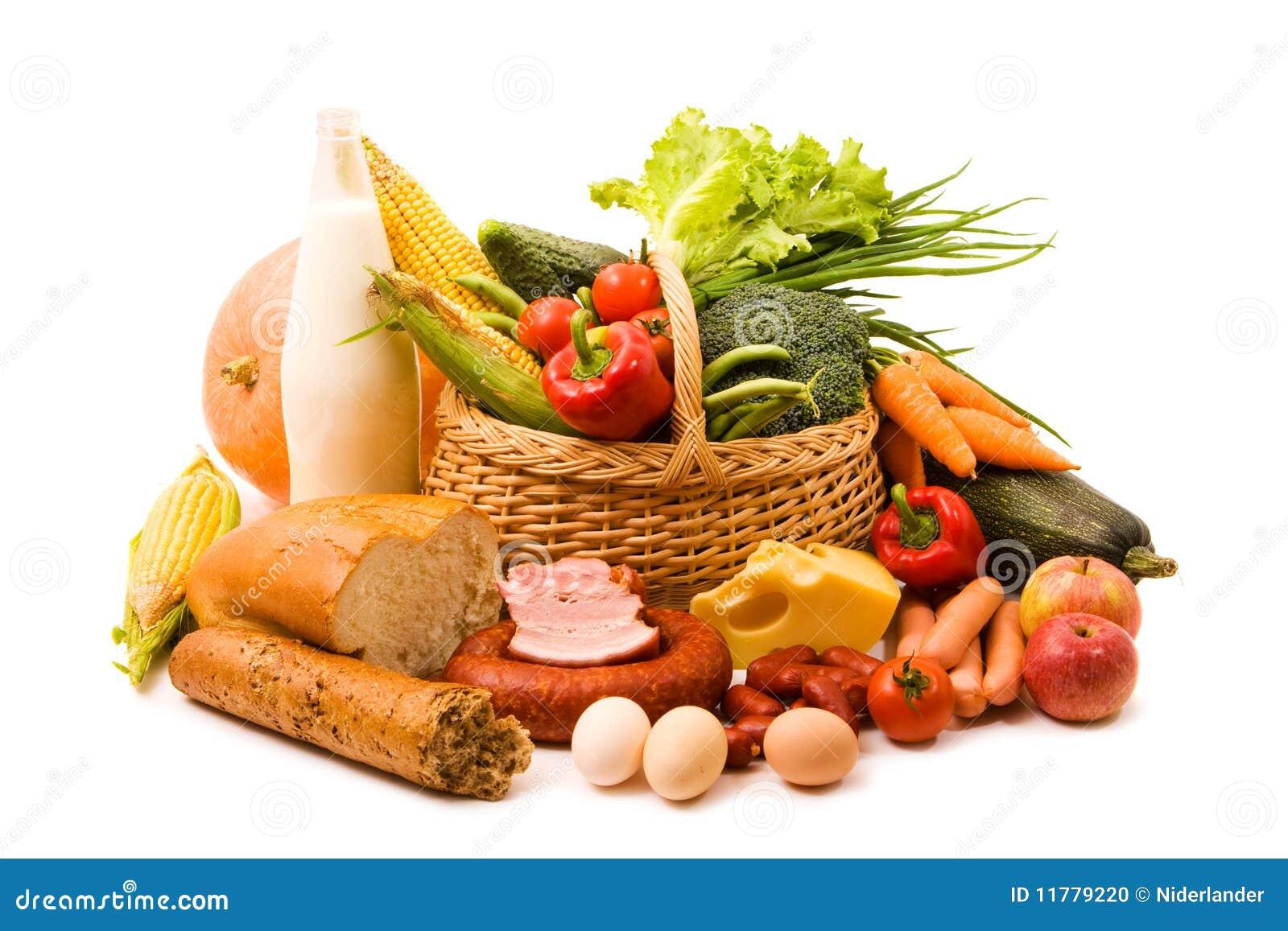 Panier avec nourriture