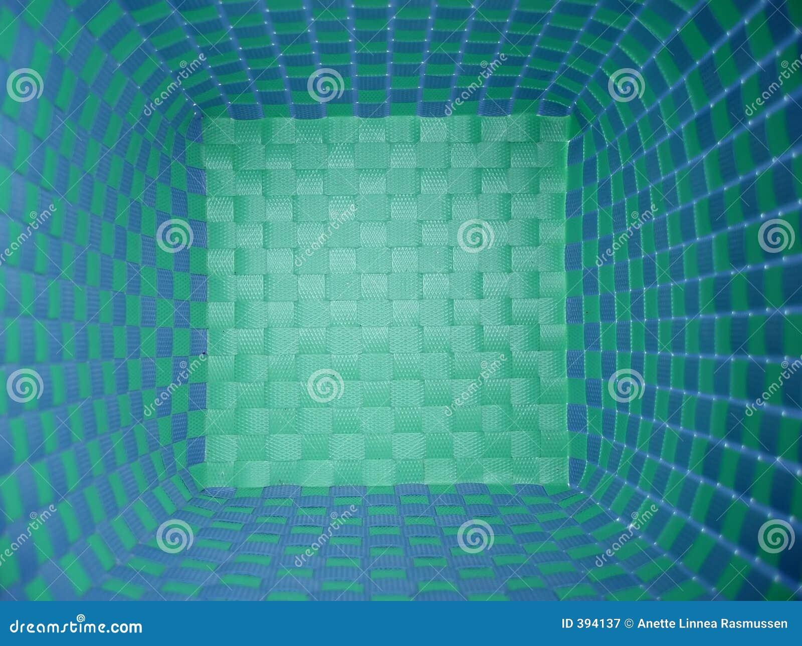 Panier bleu et vert