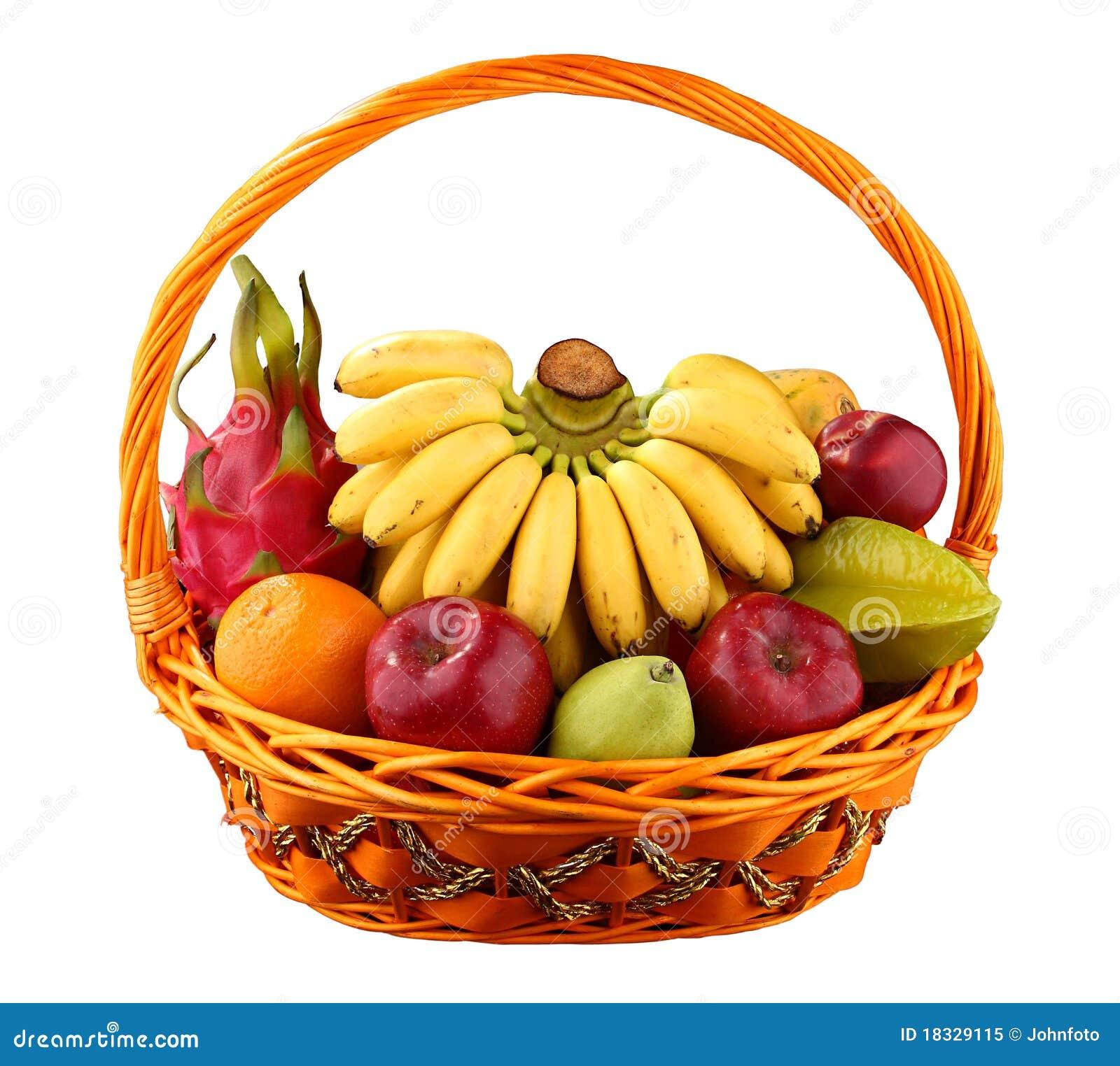 panier de fruit photo libre de droits image 18329115. Black Bedroom Furniture Sets. Home Design Ideas