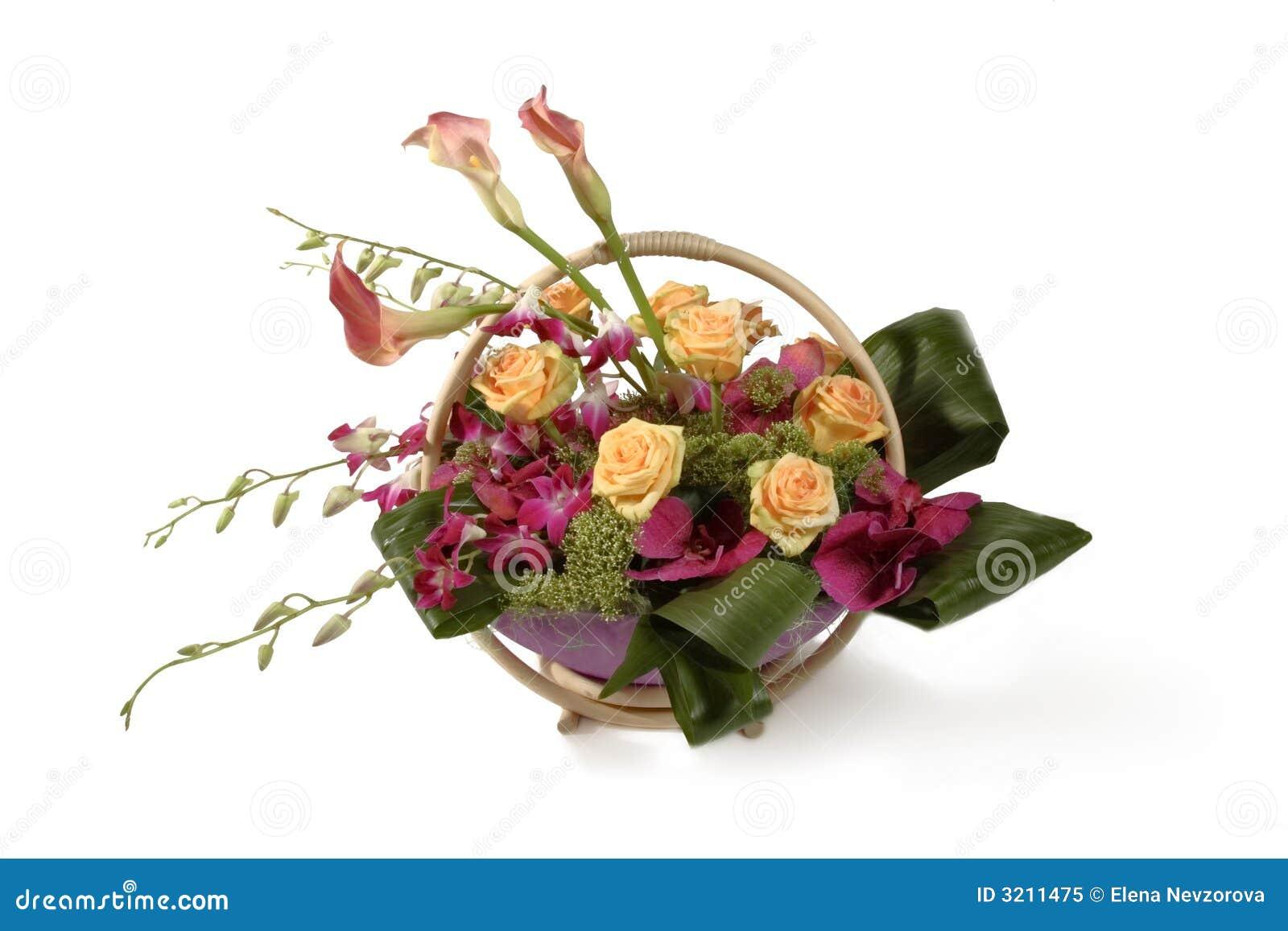 Panier des fleurs