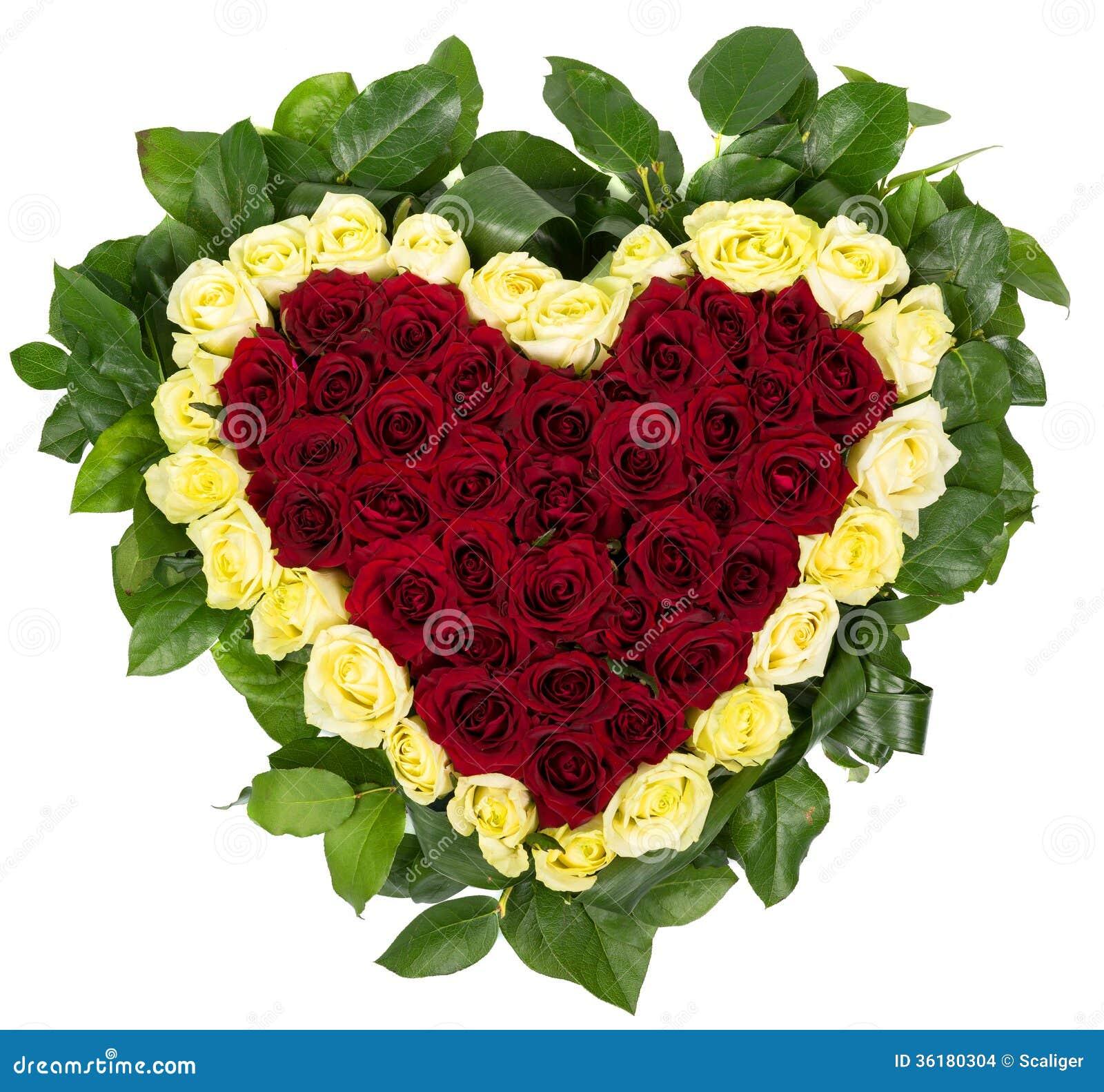 Panier des roses naturelles sous forme de coeur images stock image 36180304 - Coeur en fleurs naturelles ...