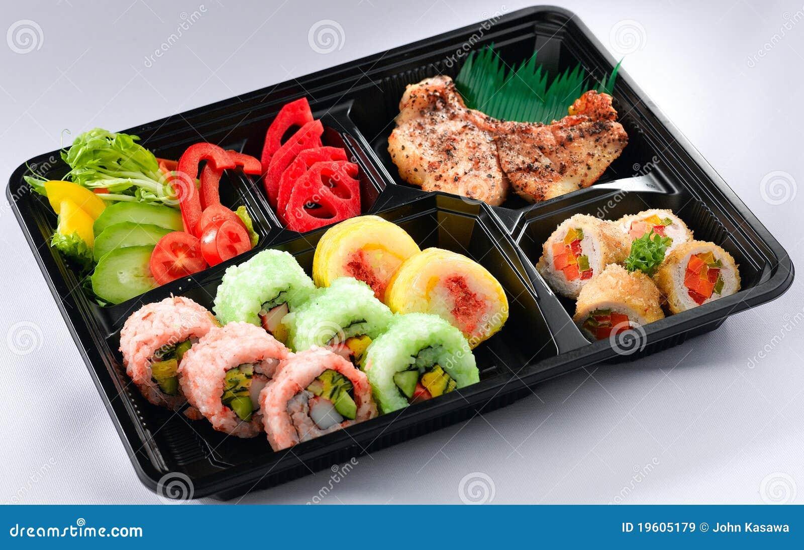 panier repas japonais de bento image stock image du salade d jeuner 19605179. Black Bedroom Furniture Sets. Home Design Ideas