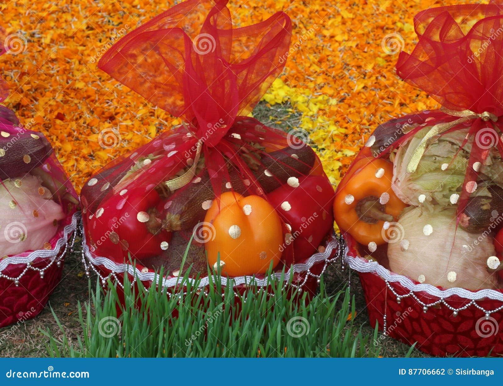 Panier végétal de cadeau