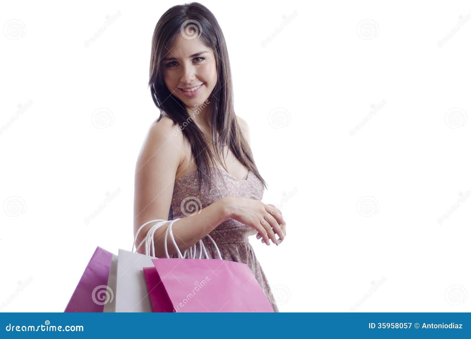 Panieres que llevan de la mujer bonita