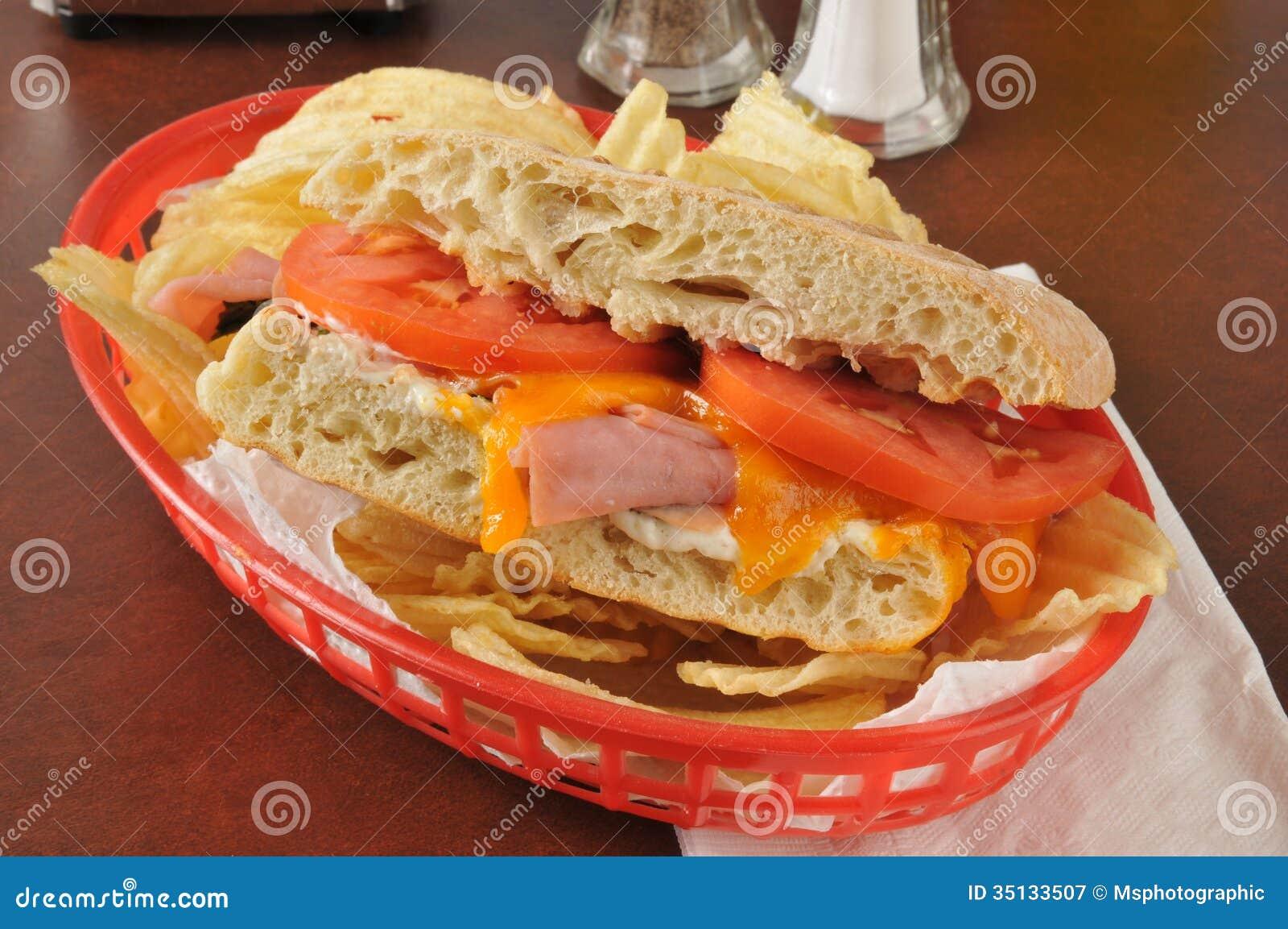 Panini del jamón y del queso