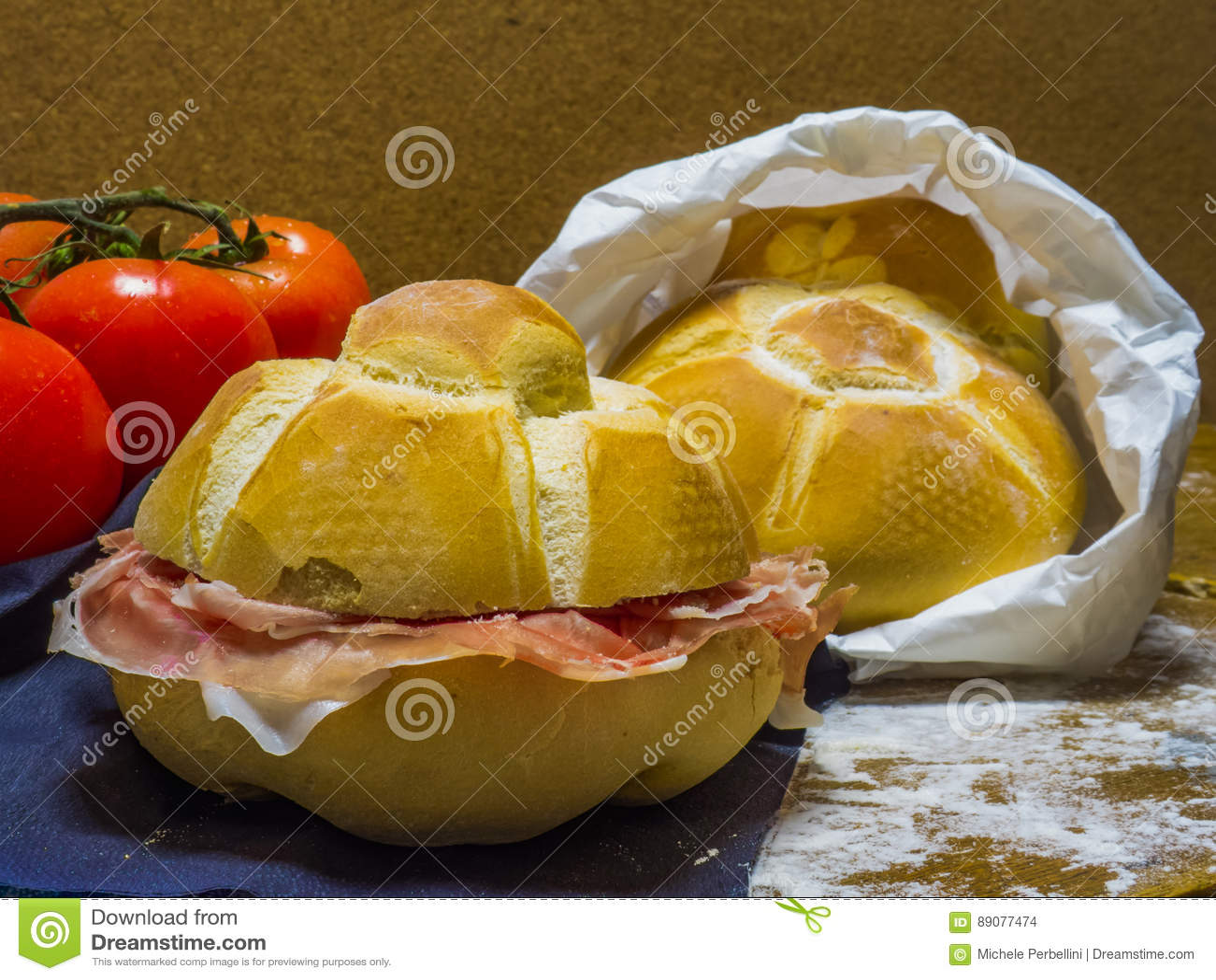 Panini mit Parmaschinken