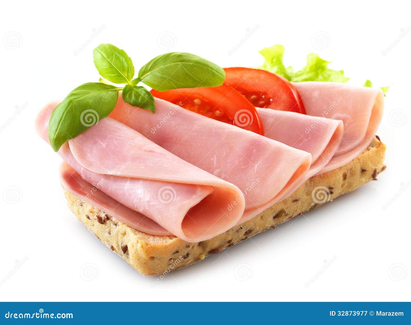 Panino con il prosciutto della carne di maiale