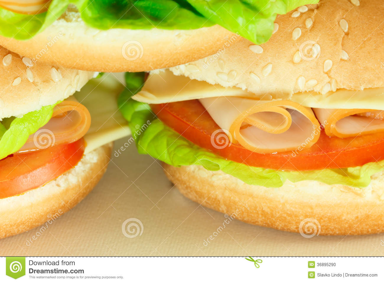 Download Panino delizioso fotografia stock. Immagine di macro - 36895290