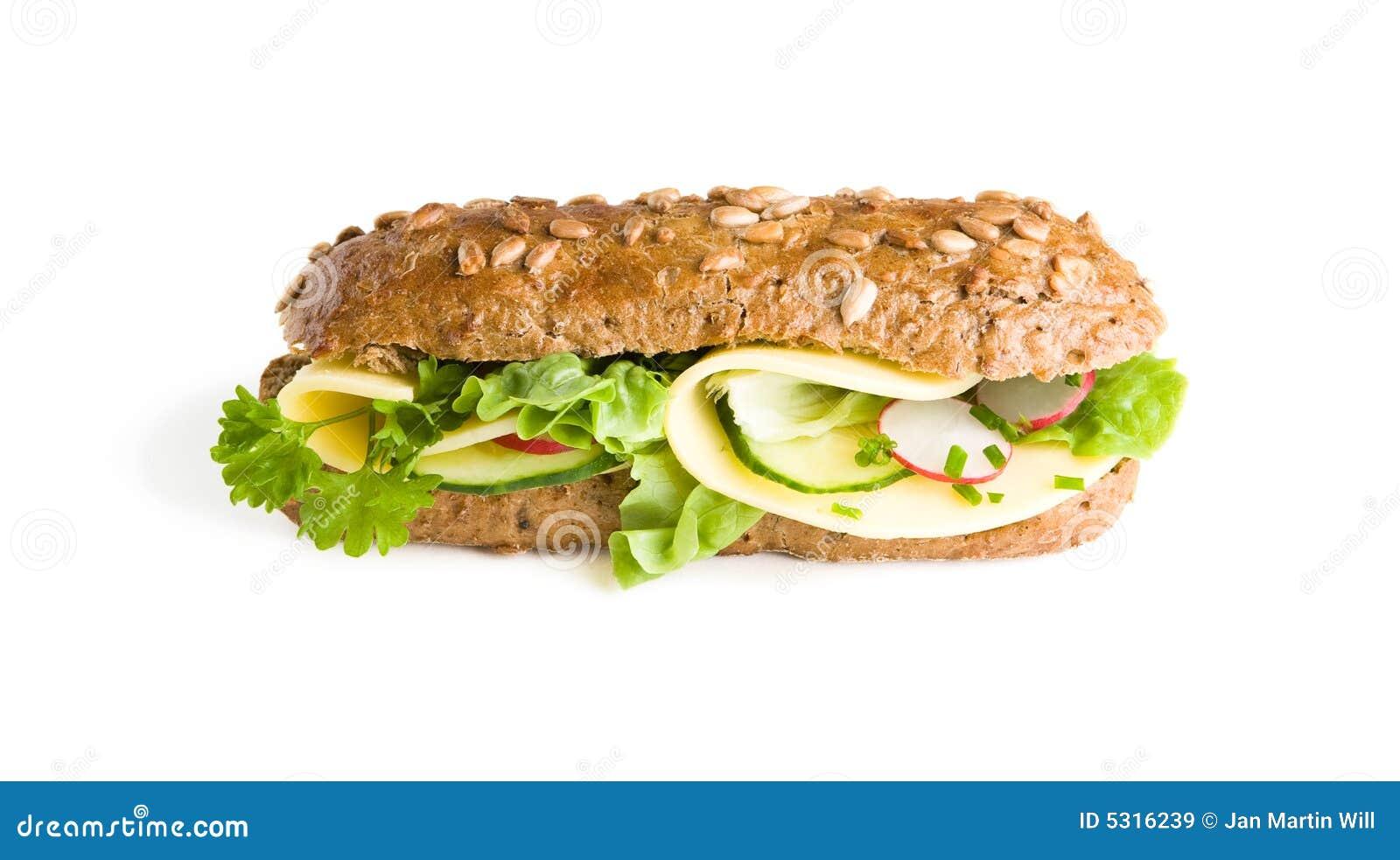 Download Panino sano del Baguette immagine stock. Immagine di nutriente - 5316239