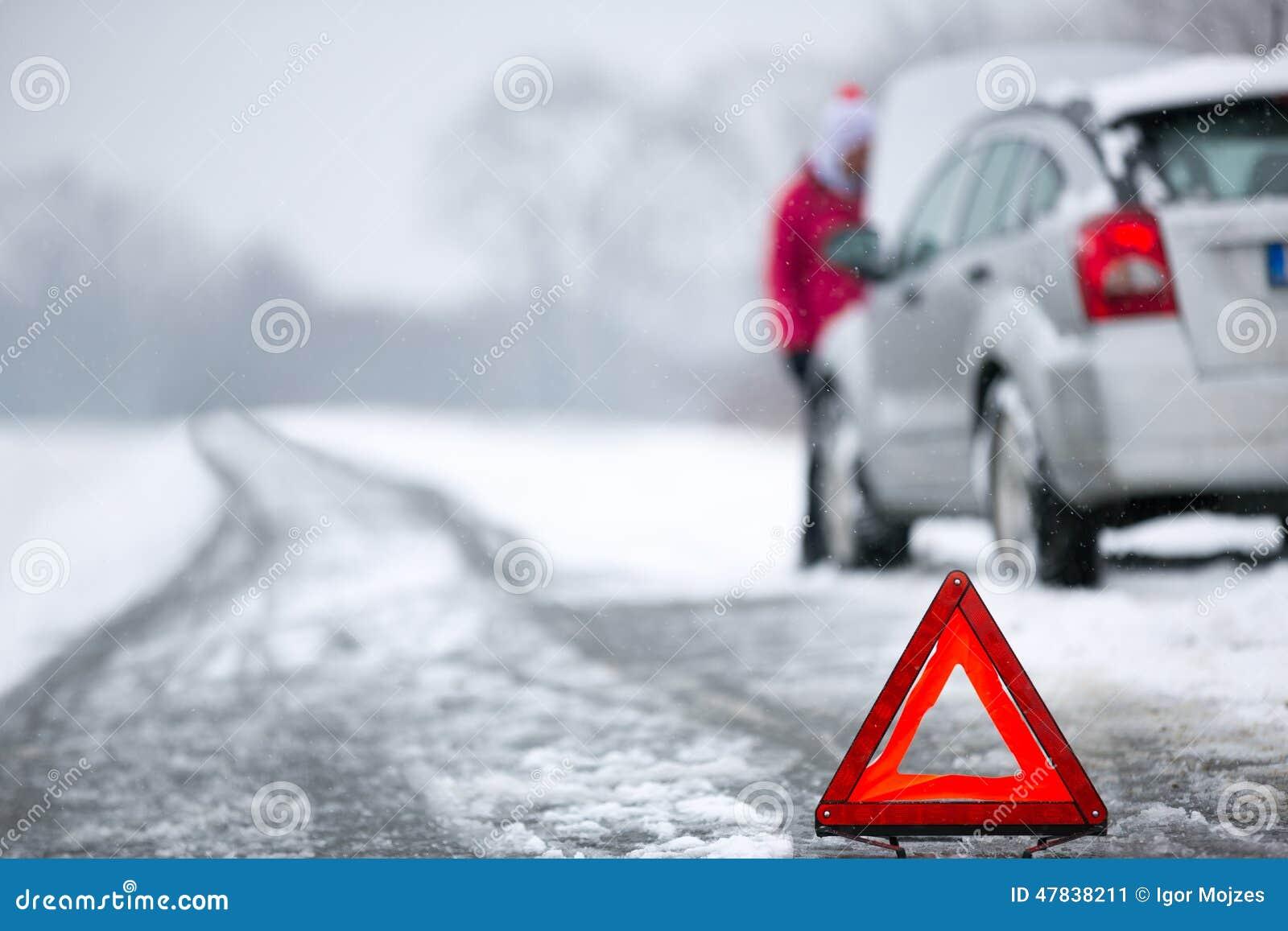 Panne de voiture d hiver