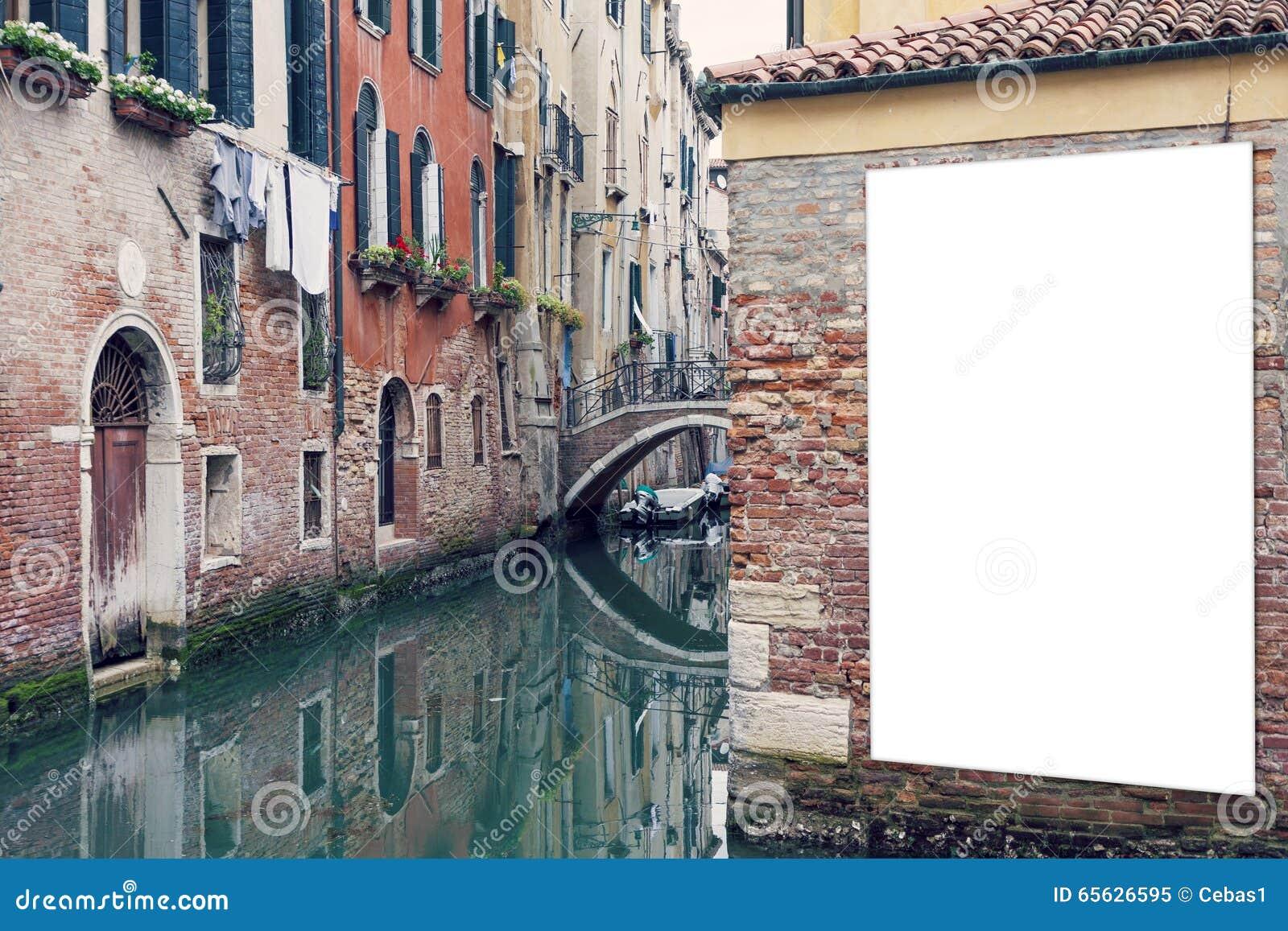 Panneau d affichage vide à Venise