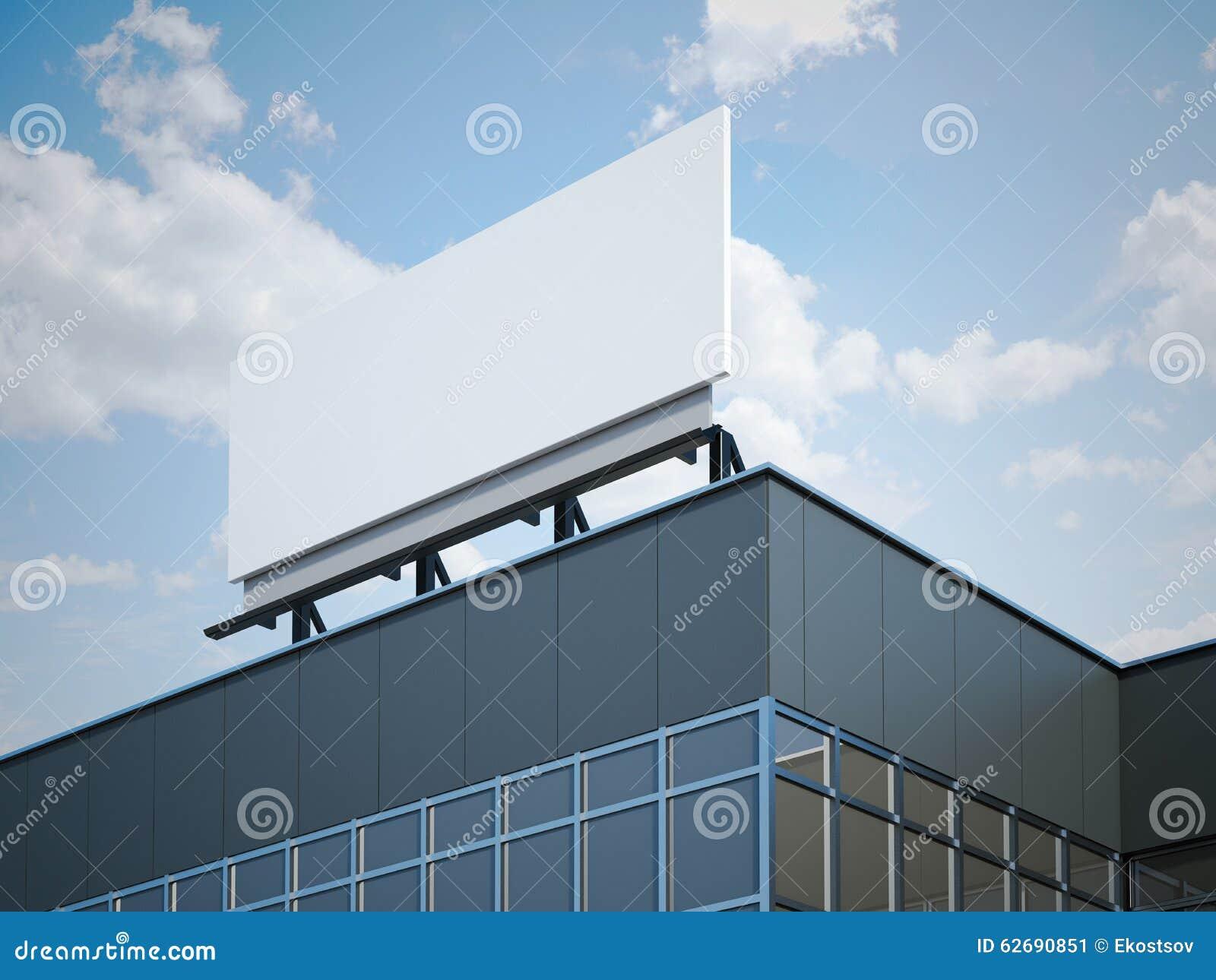 Panneau d affichage vide sur l immeuble de bureaux moderne image