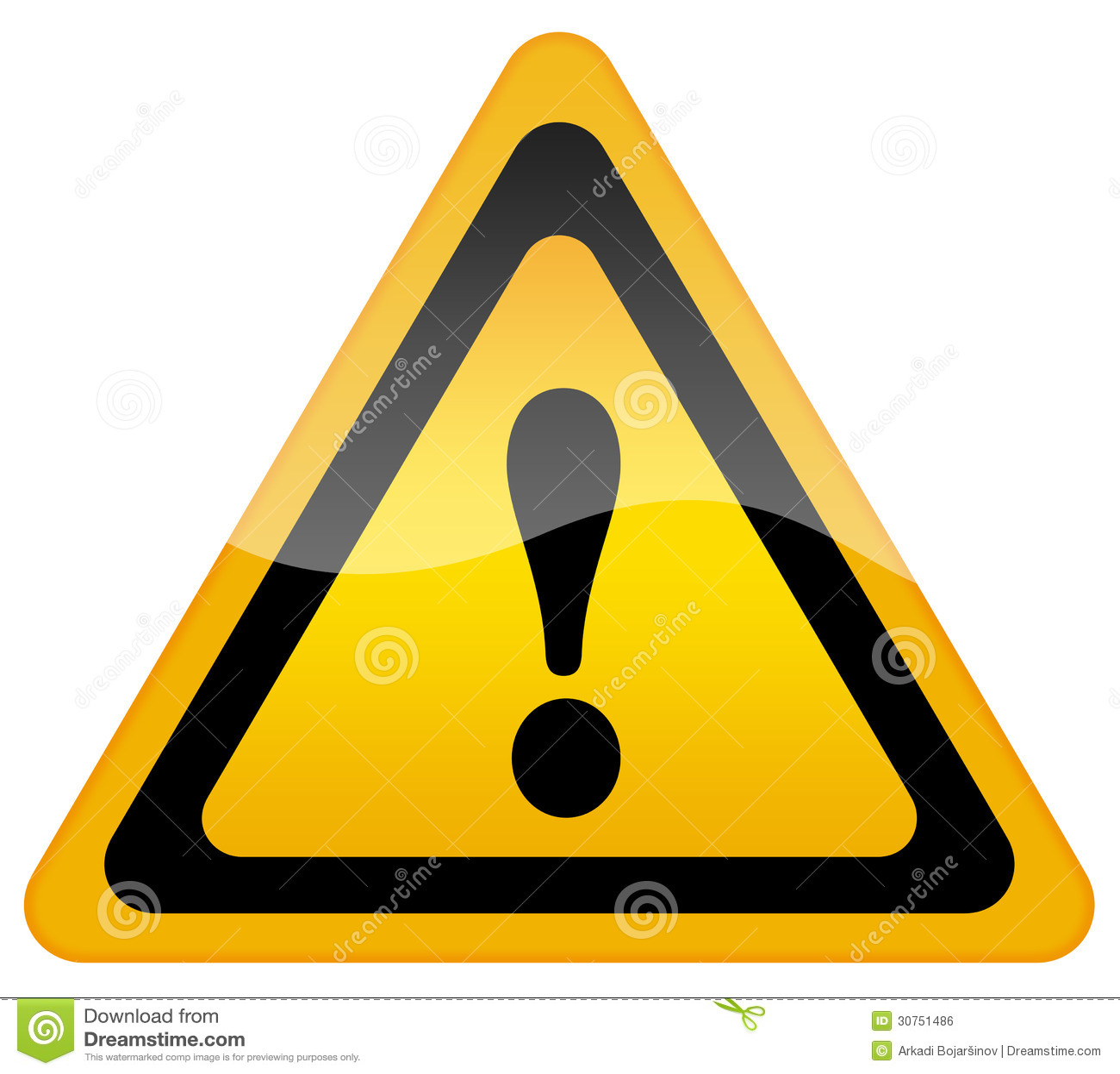 panneau d 39 avertissement de danger image libre de droits image 30751486. Black Bedroom Furniture Sets. Home Design Ideas